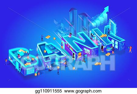 Wordbank clipart svg freeuse library Clip Art Vector - Isometric projection of word bank. global ... svg freeuse library