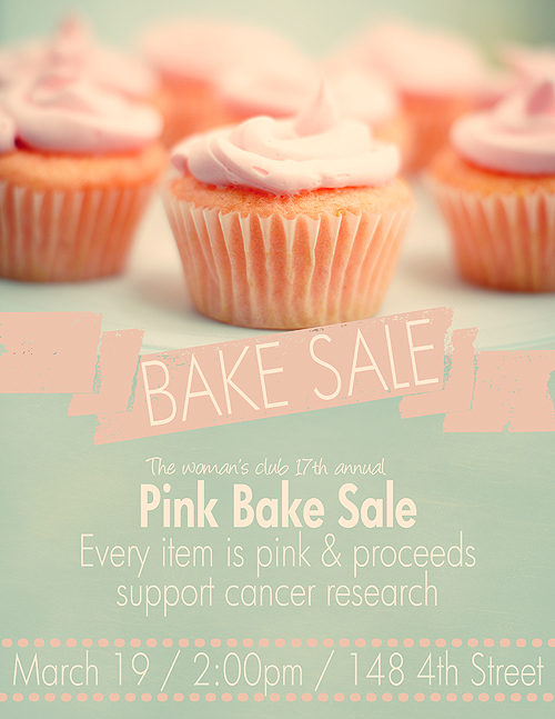 Words bake sale clipart clip art library stock Pink Bake Sale Flyer | Bake Sale Flyers – Free Flyer Designs clip art library stock