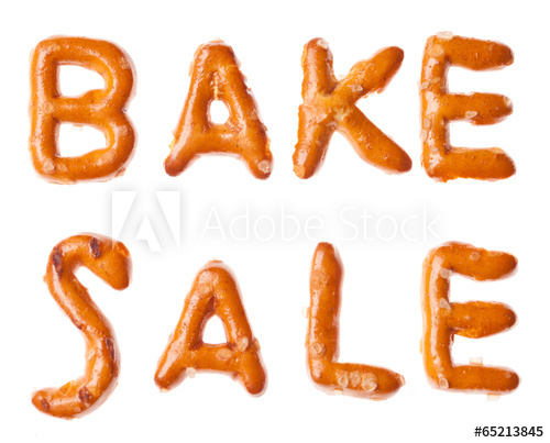 Words bake sale clipart image library Alphabet pretzel written words BAKE SALE isolated - Buy this ... image library