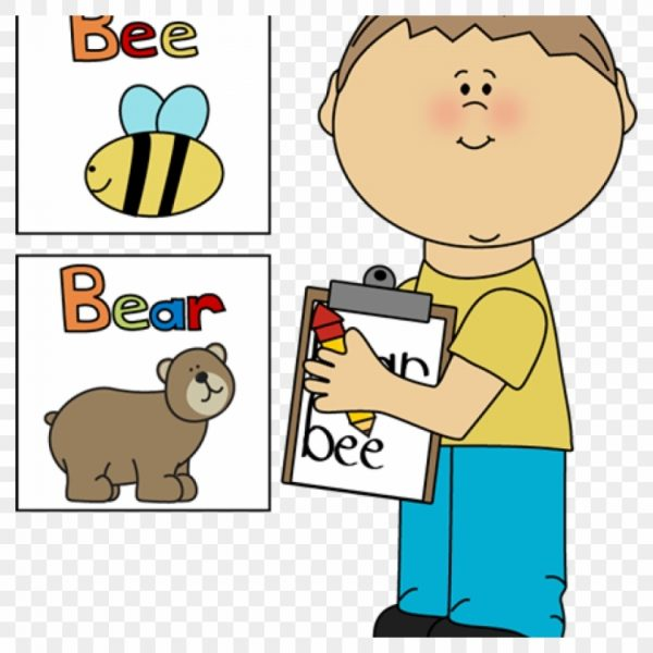 Words clipart svg library Kids Writing Clipart Boy Writing Words On Clipboard ... svg library