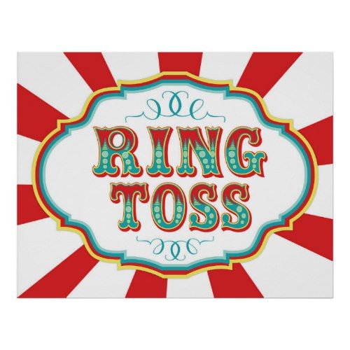 Words ring toss clipart png royalty free Carnival Game Sign Ring Toss   Zazzle.com   Circus Birthday ... png royalty free