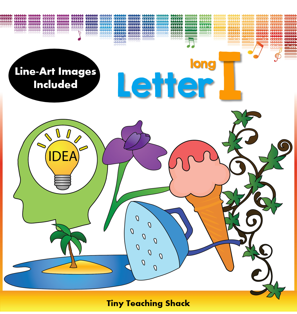 Words that begin with long i clipart image black and white download phonics clipart- beginning sound Long I | Literacy centre ... image black and white download