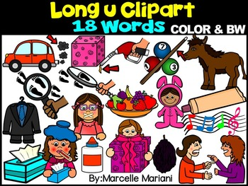 Words that begin with long i clipart clipart transparent download LONG VOWEL U CLIPART (_U_E, UE, UI)- LONG U VOWEL WORDS CLIPART clipart transparent download