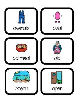 Words that begin with long i clipart picture transparent library Beginning Sounds Word Hunt/Write the Room: Long O | Letter ... picture transparent library