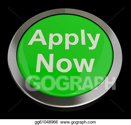 Apply now button clipart png free Stock Illustrations - Apply now button in green for work ... png free