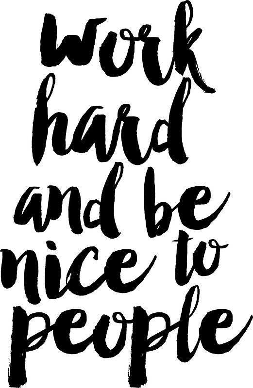 Work hard and be nice to people clipart banner free Work Hard and Be Nice to People | Sticker | things i would ... banner free