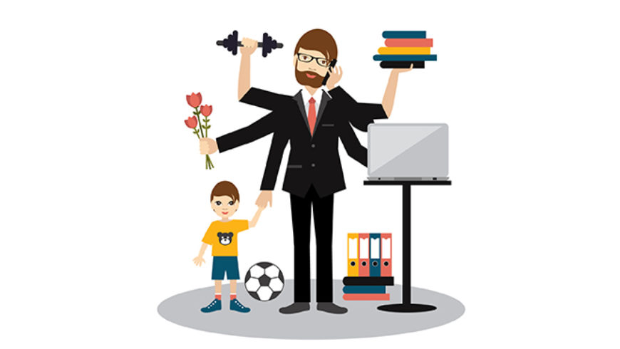 Work life balance clipart picture black and white stock You can have it all\