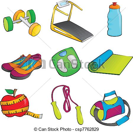 Work out equipment clipart vector library library Workout equipment Clipart and Stock Illustrations. 12,081 Workout ... vector library library