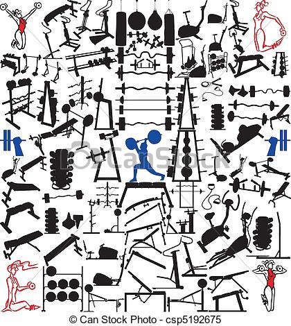 Work out equipment clipart banner royalty free stock Workout equipment Clipart and Stock Illustrations. 12,081 Workout ... banner royalty free stock