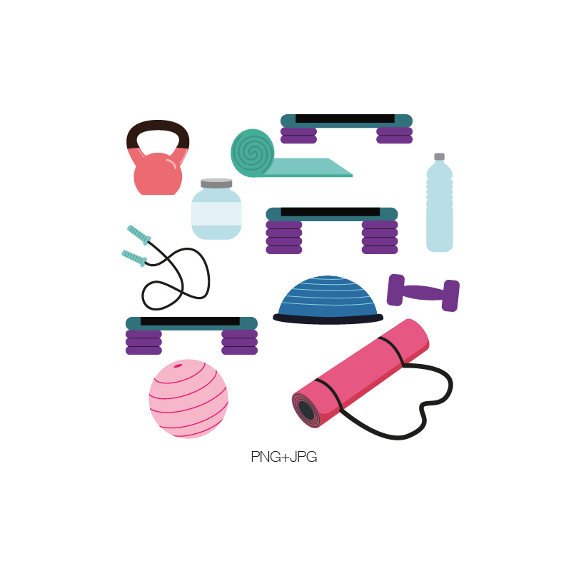 Work out equipment clipart graphic library stock Gym equipment clipart - ClipartFest graphic library stock