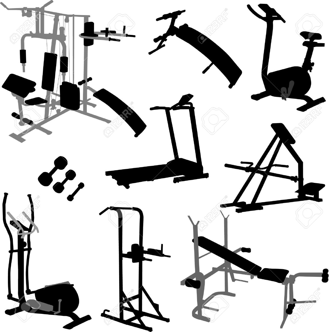 Work out equipment clipart banner free Work out equipment clipart - ClipartFest banner free