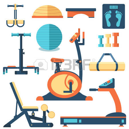 Work out equipment clipart png royalty free 1,293 Gym Equipment Vector Stock Vector Illustration And Royalty ... png royalty free