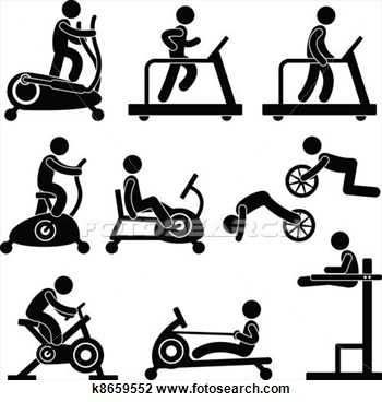 Work out equipment clipart graphic royalty free download Exercise Equipment Clipart - Clipart Kid graphic royalty free download