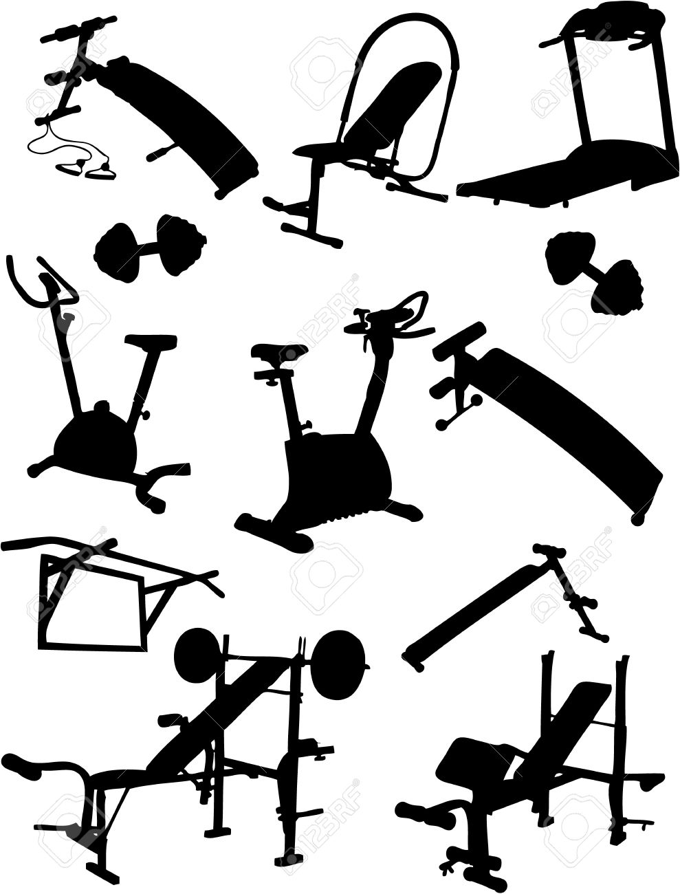 Work out equipment clipart graphic free library Clipart gym equipment - ClipartFest graphic free library