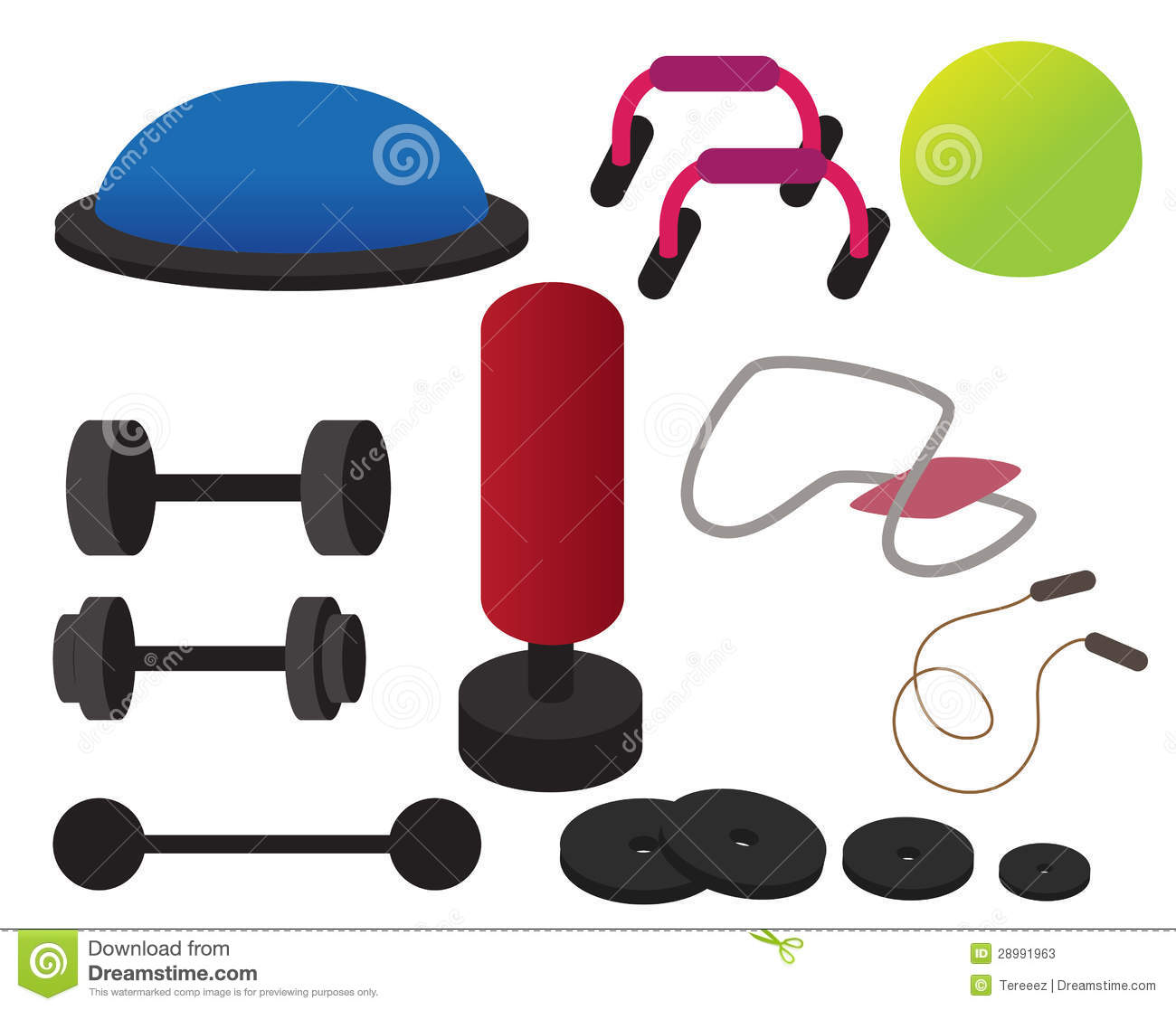 Work out equipment clipart
