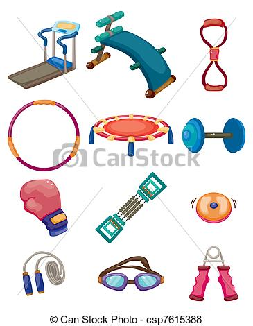 Work out equipment clipart png black and white Fitness equipment icons Clip Art Vector Graphics. 23,604 Fitness ... png black and white