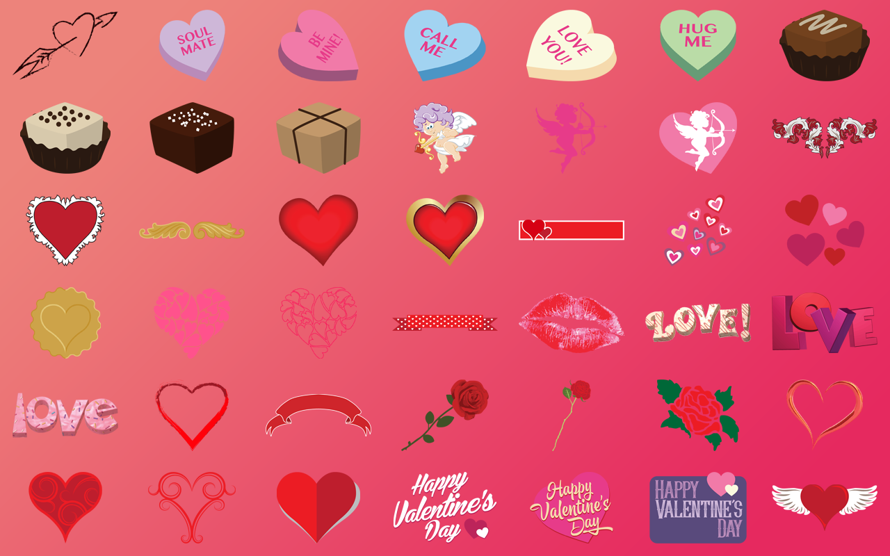 Work valentine clipart vector transparent library Creative Fonts Valentines | The Perfect Sweetheart Font ... vector transparent library
