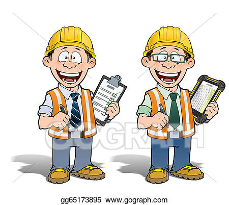 Worker and manager clipart clipart royalty free stock Stock Illustration - Construction worker - project manager ... clipart royalty free stock