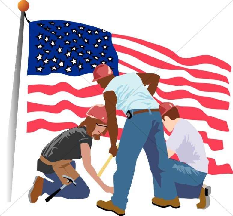 Worker failer clipart clip free Patriotic Construction and Cleanup Workers | Labor Day Clipart clip free