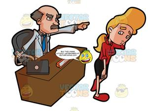 Worker failer clipart graphic transparent library An Employer Firing One Of His Female Employee graphic transparent library