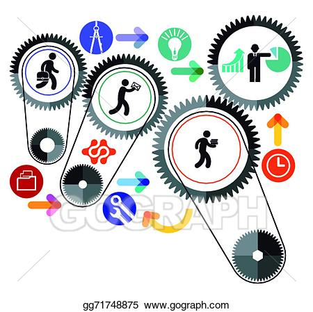 Workgroup clipart clipart Vector Clipart - Work group . Vector Illustration gg71748875 ... clipart