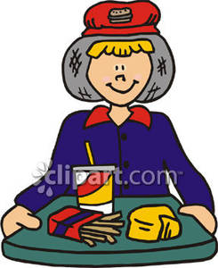 Working at first job clipart picture stock Fast Food-First Job - Royalty Free Clipart Picture picture stock