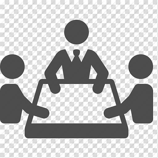 Working clipart black and white transparent background svg free stock Group of working persons logo, Computer Icons Convention ... svg free stock