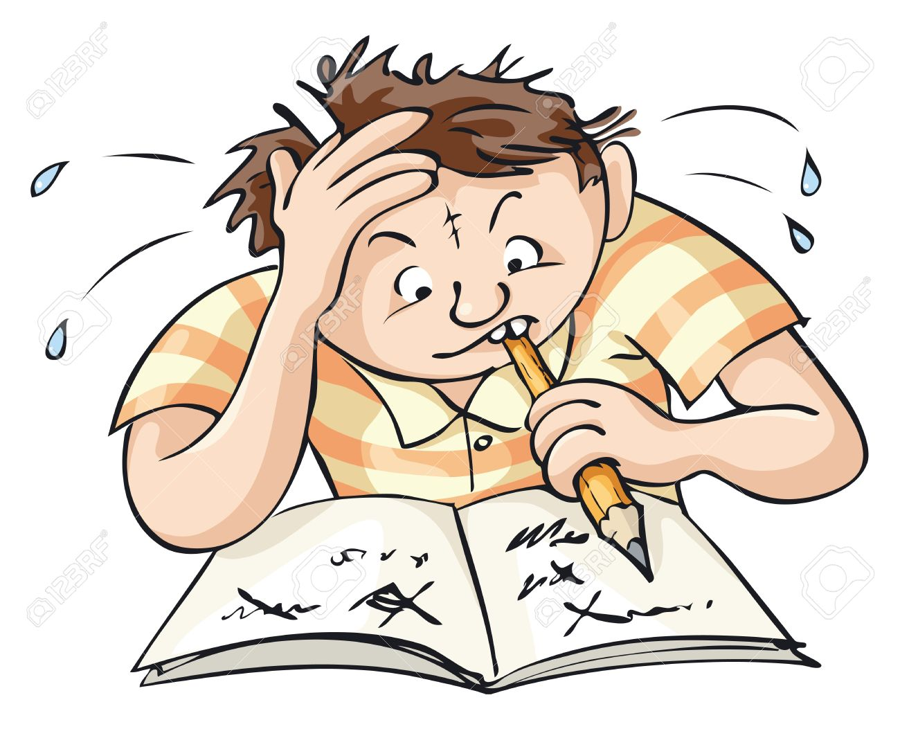 Working hard in school clipart png free stock Working Hard At School Clipart png free stock