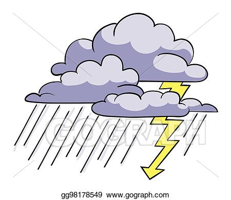 Working in a rainstorm clipart vector royalty free stock EPS Illustration - Cartoon image of storm icon. rainstorm ... vector royalty free stock