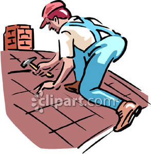 Working on roof clipart clipart transparent download Man Working on Roof Royalty Free Clipart Picture clipart transparent download