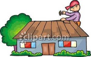 Working on roof clipart image stock A Man Working on the Roof of a House Royalty Free Clipart ... image stock