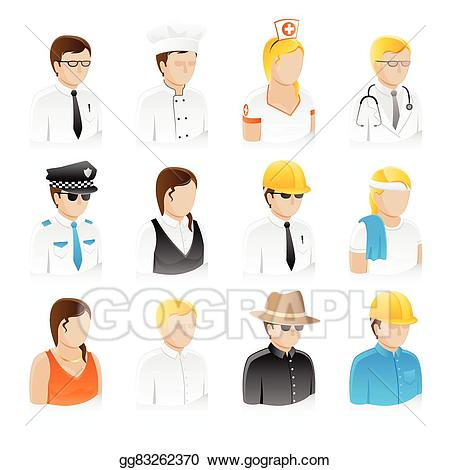 Working professional clipart clip art freeuse library Vector Art - Professional people collection set. Clipart ... clip art freeuse library