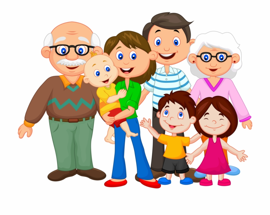 Hispanic family clipart svg black and white stock Happy Family Cartoon Png - Clipart Of My Family Free PNG ... svg black and white stock
