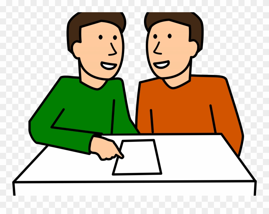 Working with a partner clipart jpg freeuse library Student Group School Classroom - Partner Work Clipart - Png ... jpg freeuse library