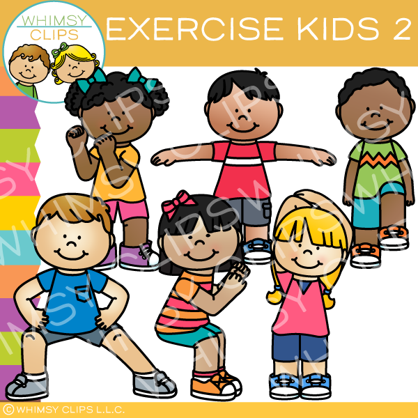 Kids exercise clipart png royalty free library Workout clip art , Images & Illustrations | Whimsy Clips ® png royalty free library