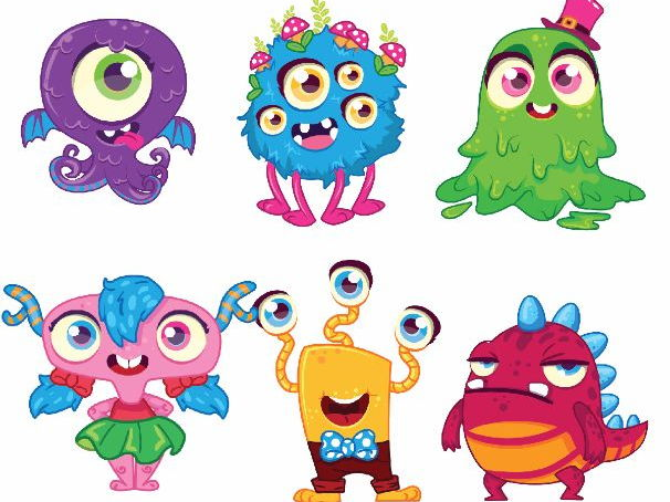 Workout monster clipart banner library download Monsters Clipart banner library download