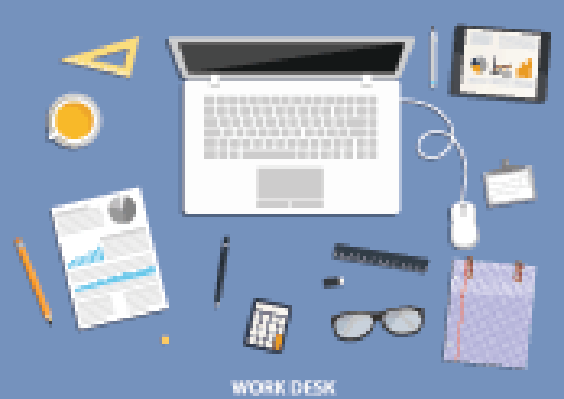 Workspace clipart graphic royalty free Workspace, Flat Desktop Design with Business Icons | Clipart ... graphic royalty free