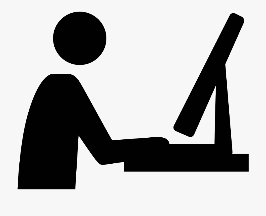 Workspace clipart image black and white library Designer Vector Workspace - Using Computer Icon Png #117178 ... image black and white library