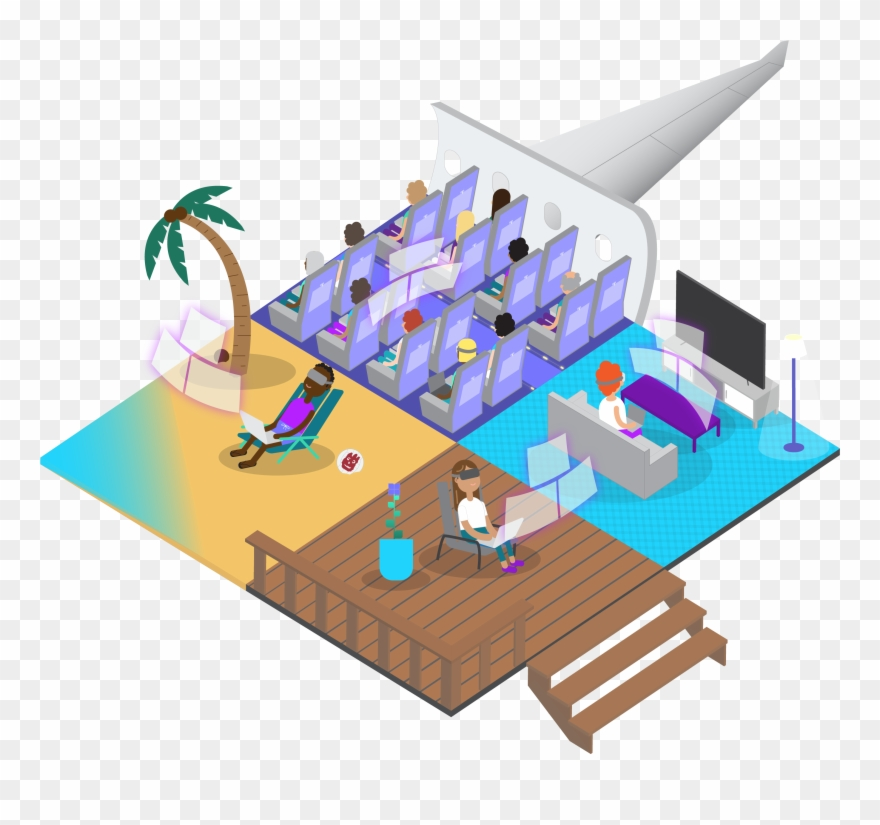Workspace clipart clipart freeuse Do More With A Vr Workspace - Illustration Clipart (#2155124 ... clipart freeuse
