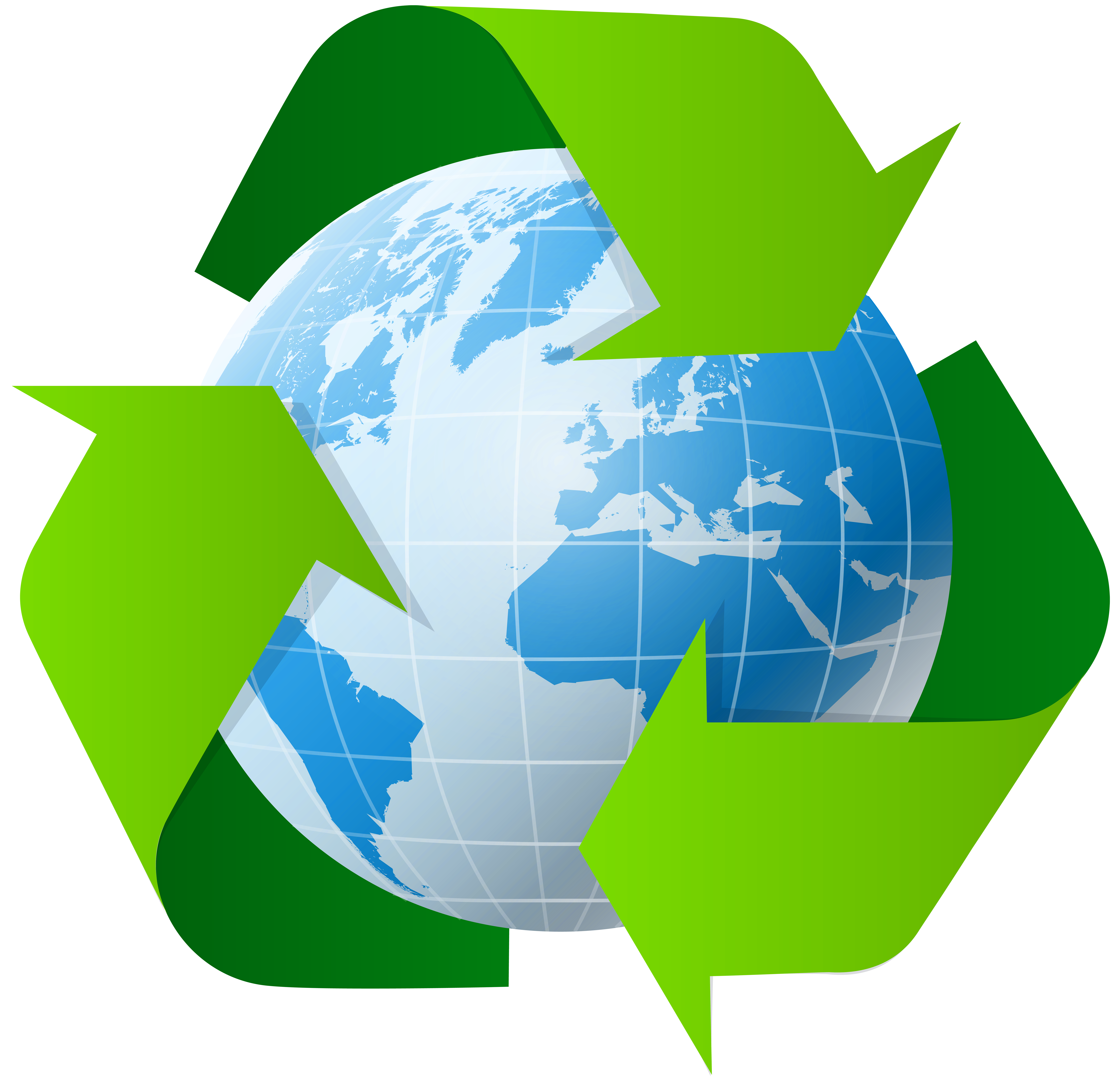 World clipart symbol png banner royalty free library Earth with Recycle Symbol PNG Clip Art - Best WEB Clipart banner royalty free library