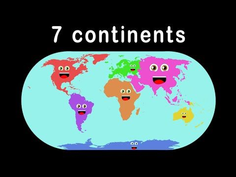 World continent clipart fun graphic free download Kid Songs | Seven Continents Song for Children | The ... graphic free download