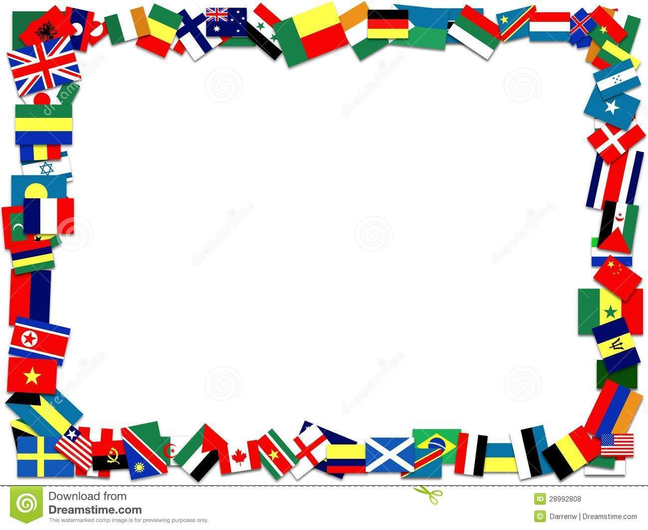 World flags border clipart svg freeuse download Reading around the World Clip Art | Flag Frame Royalty Free ... svg freeuse download