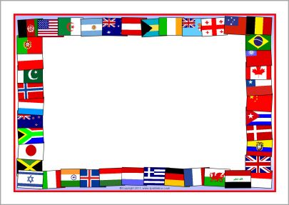 World flags border clipart clip art free stock Flags of the world A4 page borders (SB5827) - SparkleBox ... clip art free stock