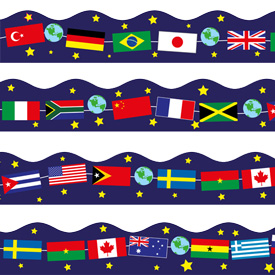 World flags border clipart picture library stock World Flags Border / Board Trimmer picture library stock