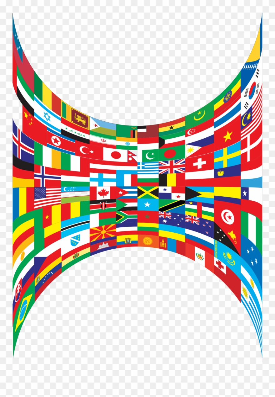 World flags border clipart vector black and white download Big Image - World Flags Border Png Clipart (#448047 ... vector black and white download
