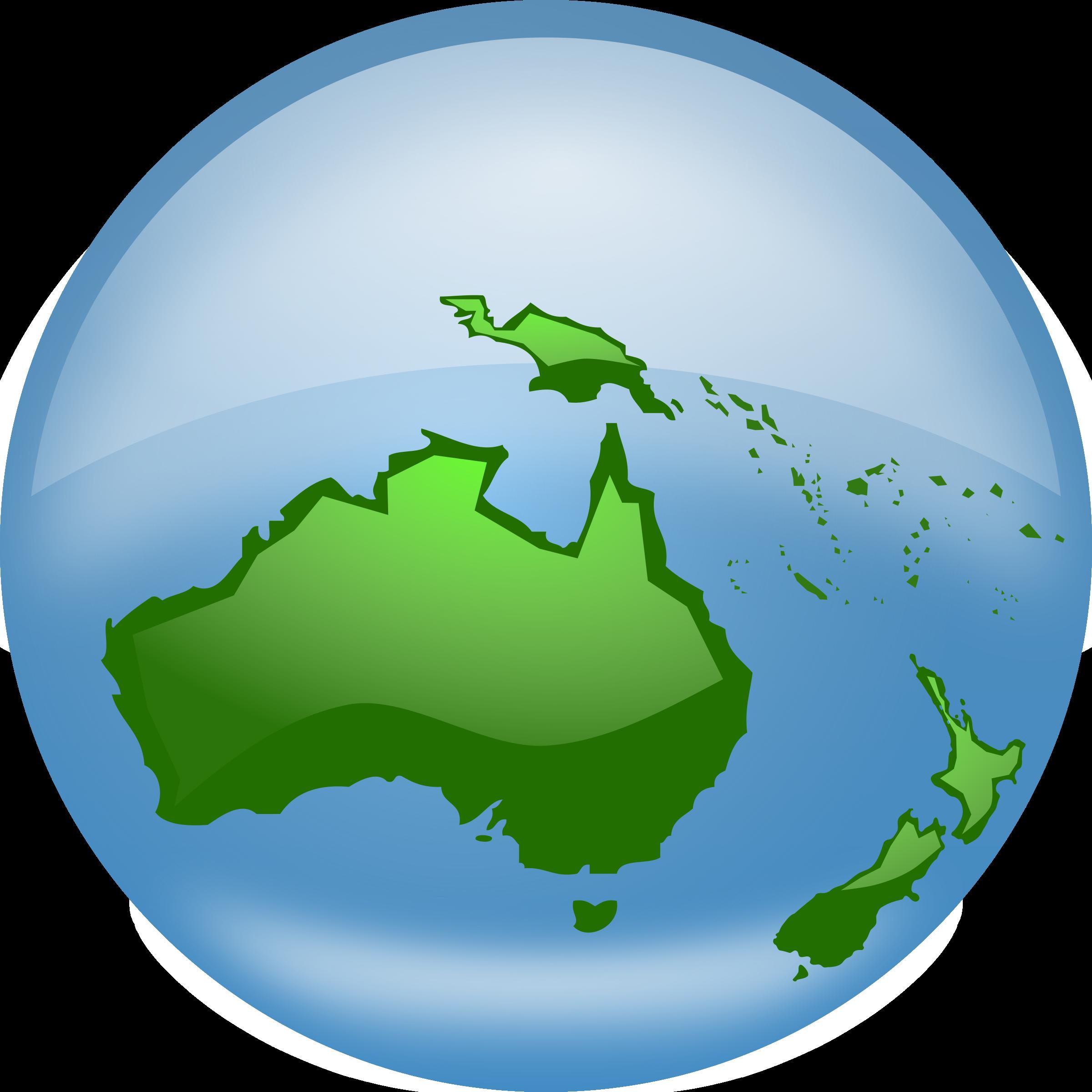 World globe map clipart graphic transparent Clipart - Oceania Globe graphic transparent
