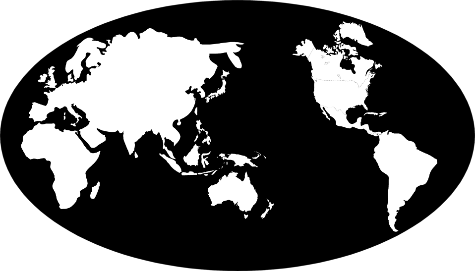 Free world map globe clipart clip art black and white Maps World | Free Stock Photo | Illustration of a globe with a ... clip art black and white