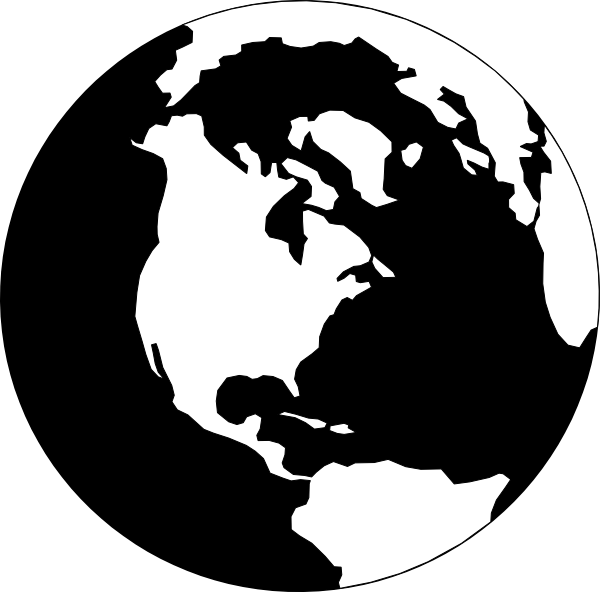 World globe map clipart picture free stock Gallery For > The World Globe Black And White | cards - map ... picture free stock