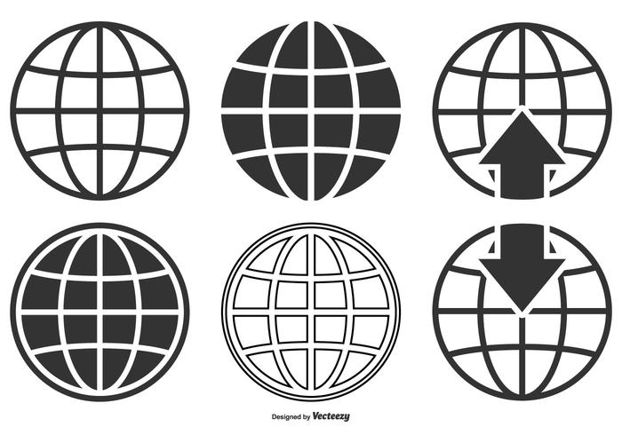 World globe vector clipart clip art library library World Globe Icon Collection - Download Free Vectors, Clipart ... clip art library library