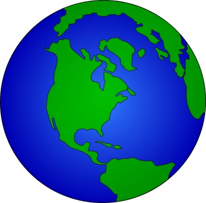 World globe vector clipart clip library library Earth Globe Vector Clip Art | free vectors | UI Download clip library library